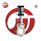 Pneumatic knife type stainless steel gate valve PZ673W